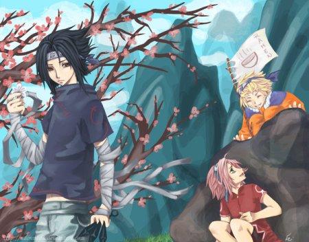 Naruto, Sasuke a Sakura